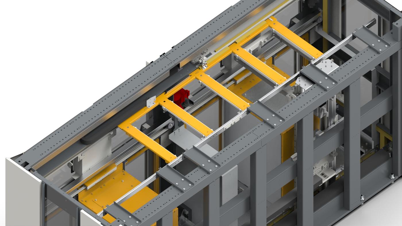 6-fach Stapelzelle für 2 Teiletypen